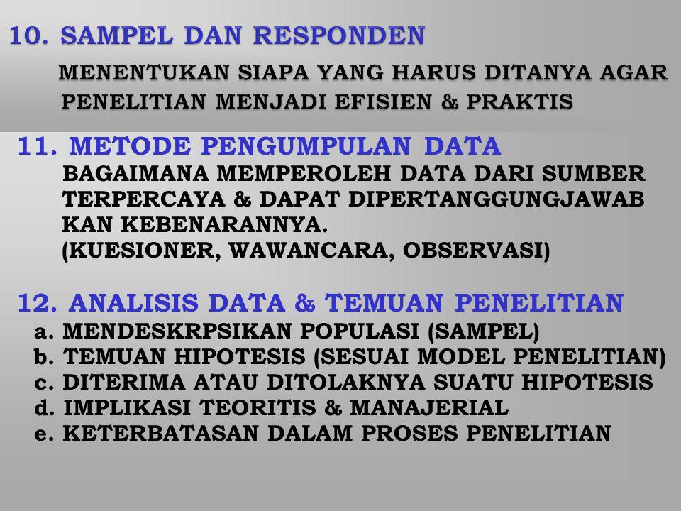 11. METODE PENGUMPULAN DATA