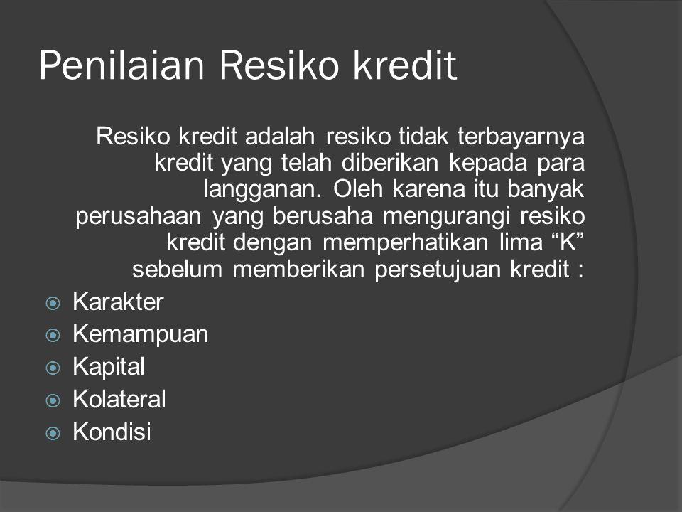 Penilaian Resiko kredit