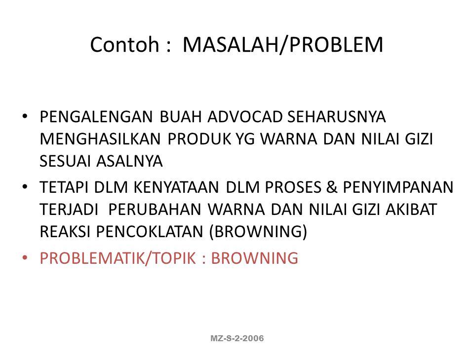 Contoh : MASALAH/PROBLEM