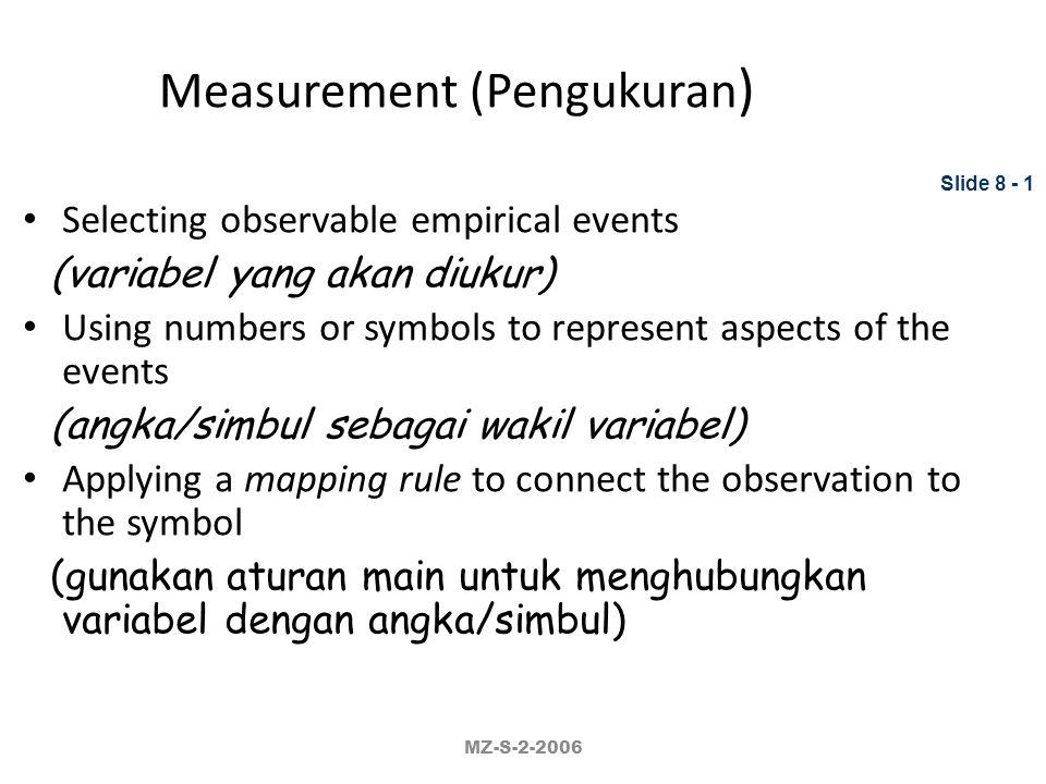 Measurement (Pengukuran)