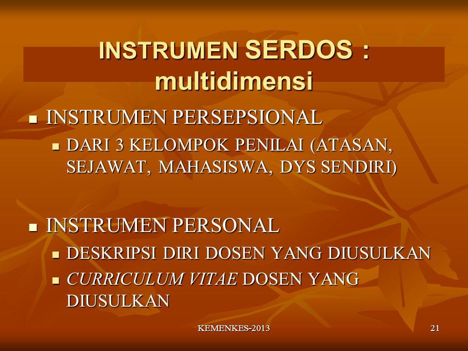 INSTRUMEN SERDOS : multidimensi