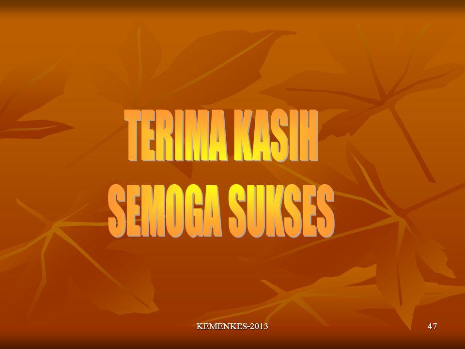 TERIMA KASIH SEMOGA SUKSES KEMENKES-2013
