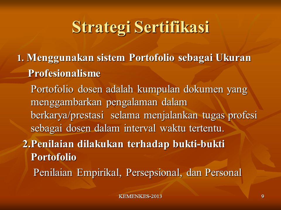 Strategi Sertifikasi Menggunakan sistem Portofolio sebagai Ukuran