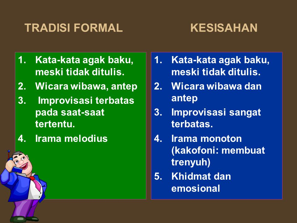 TRADISI FORMAL KESISAHAN