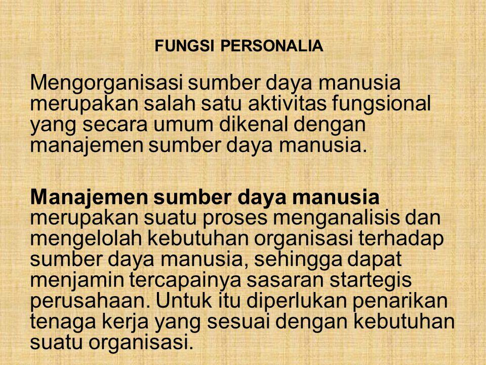 FUNGSI PERSONALIA