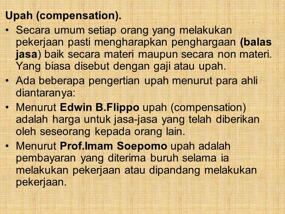 Upah (compensation).