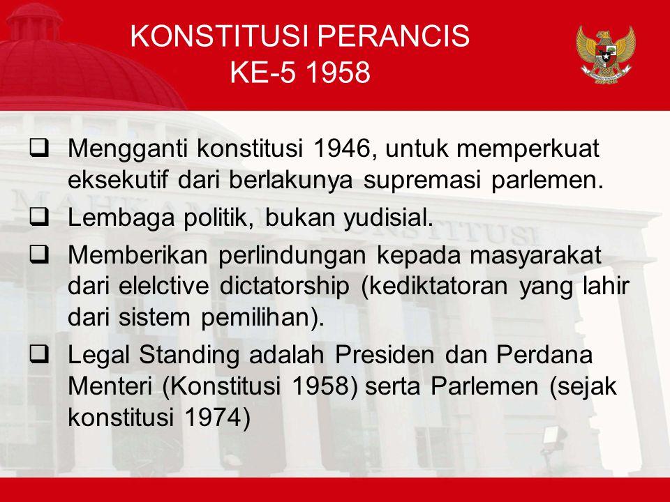 KONSTITUSI PERANCIS KE-5 1958