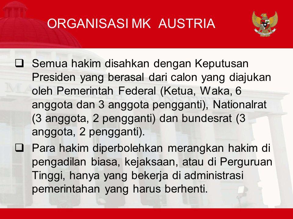 ORGANISASI MK AUSTRIA