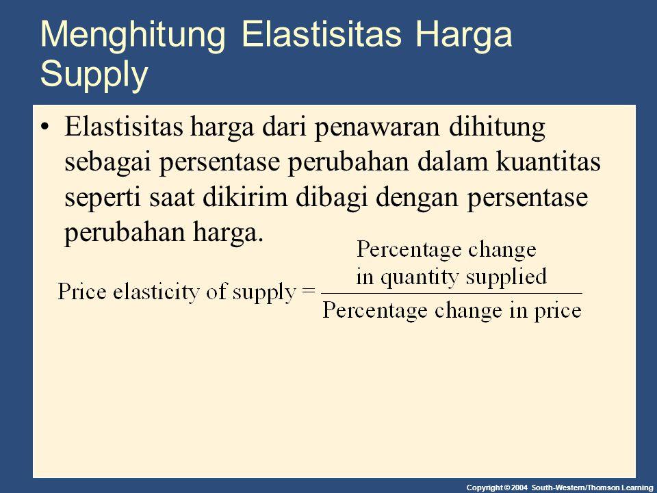 Menghitung Elastisitas Harga Supply
