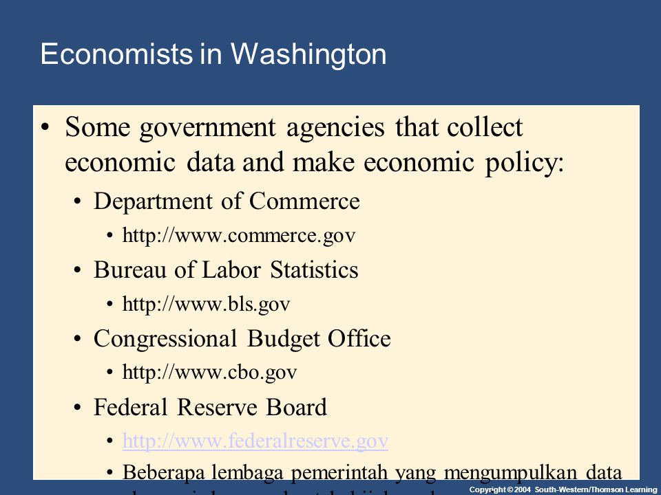 Economists in Washington