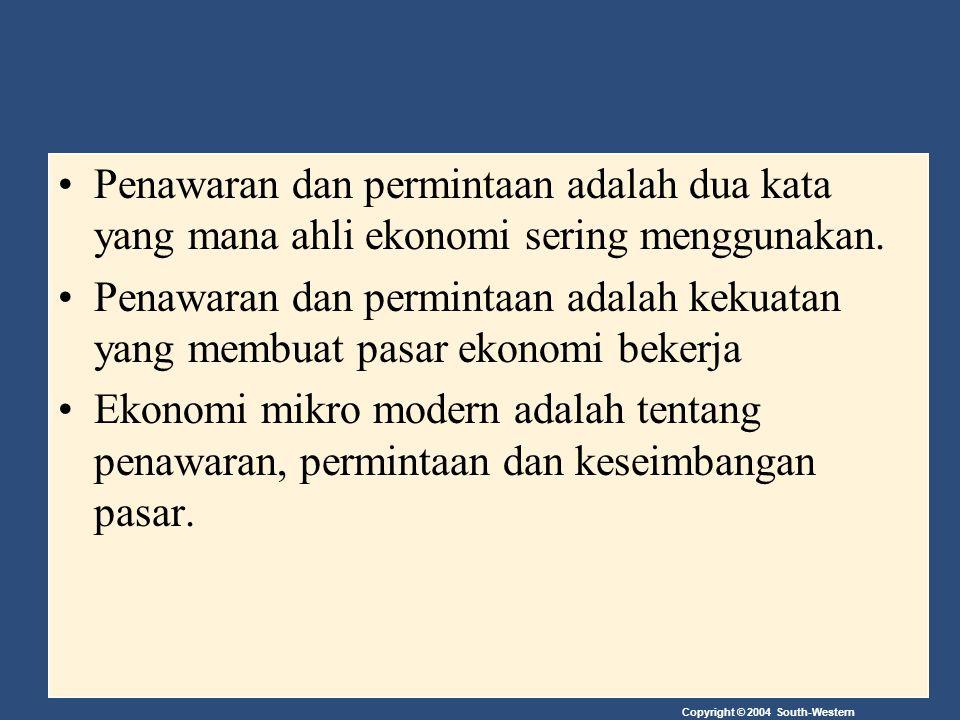 Penawaran dan permintaan adalah dua kata yang mana ahli ekonomi sering menggunakan.