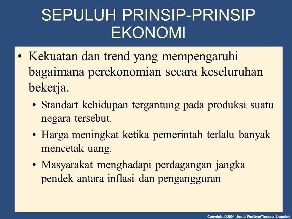 SEPULUH PRINSIP-PRINSIP EKONOMI