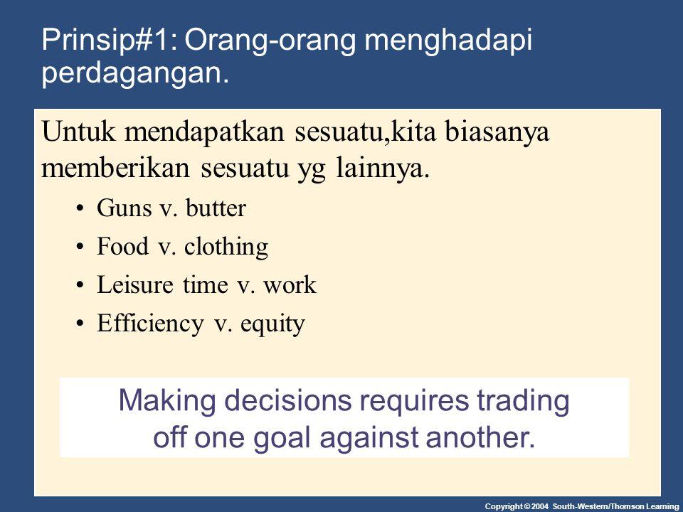 Prinsip#1: Orang-orang menghadapi perdagangan.