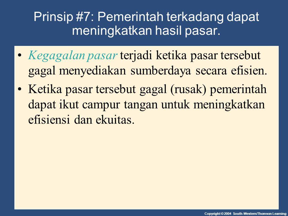 Prinsip #7: Pemerintah terkadang dapat meningkatkan hasil pasar.