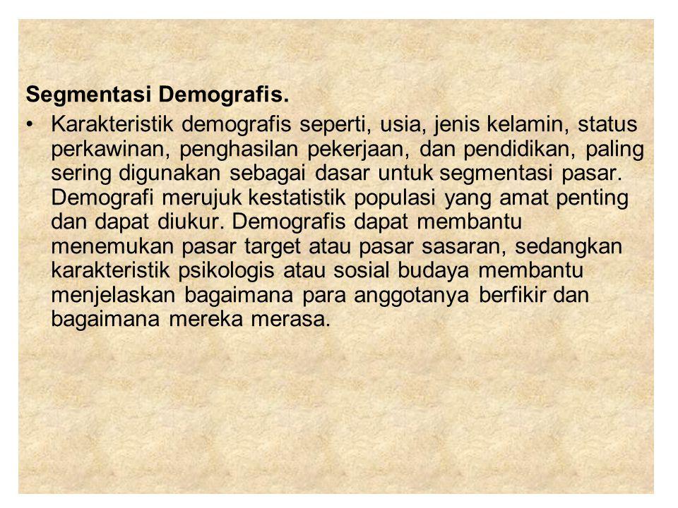 Segmentasi Demografis.