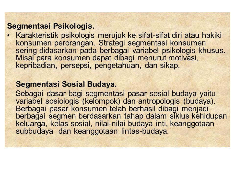 Segmentasi Psikologis.