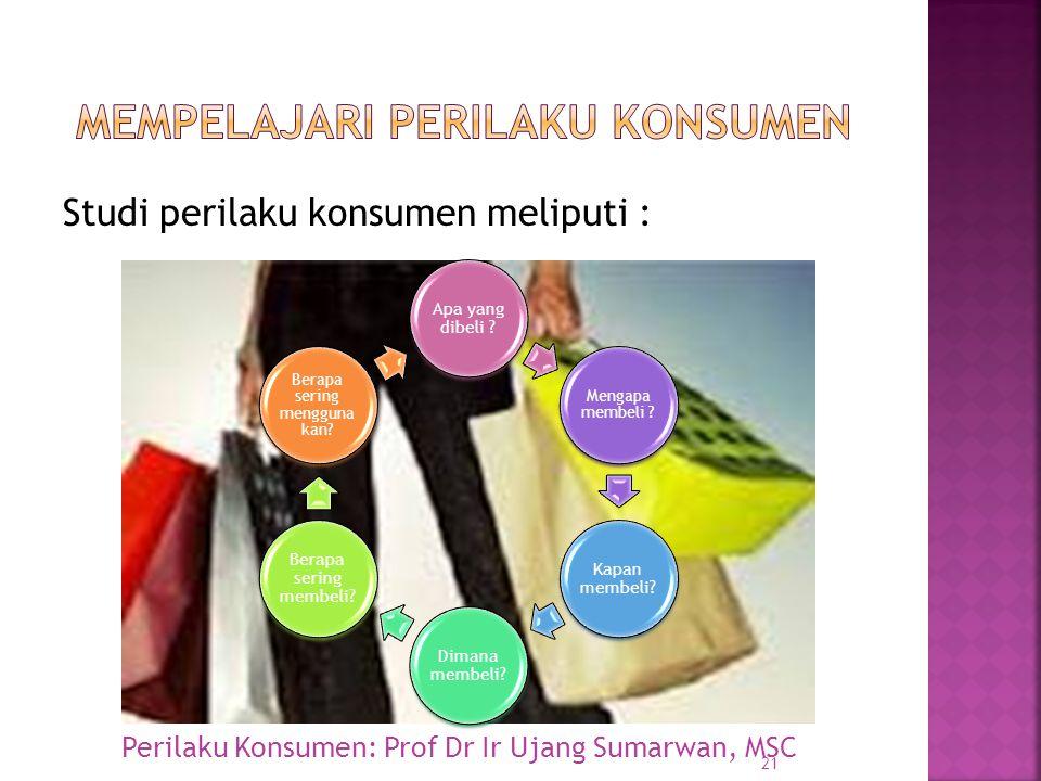Mempelajari perilaku konsumen