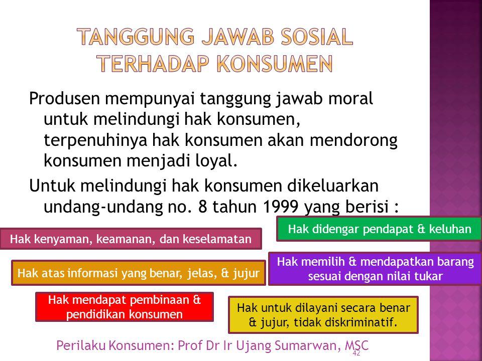Tanggung jawab sosial terhadap konsumen