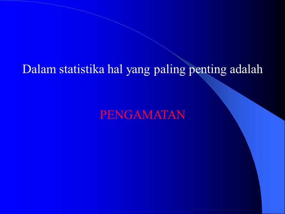 Dalam statistika hal yang paling penting adalah