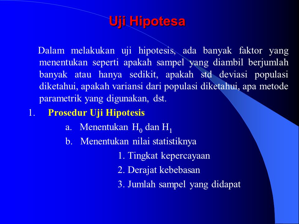 Uji Hipotesa