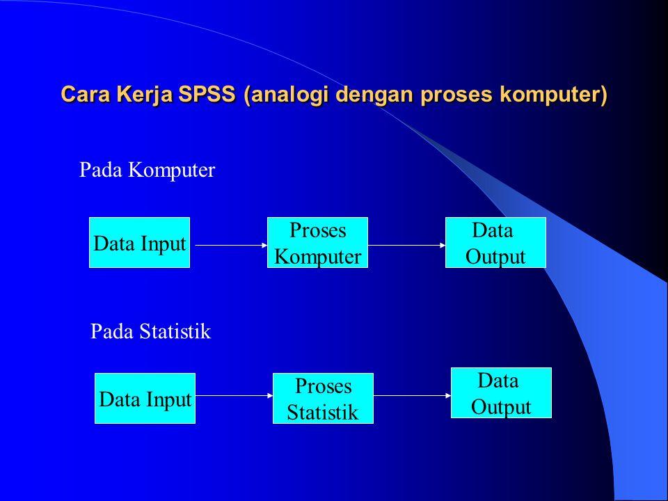 Cara Kerja SPSS (analogi dengan proses komputer)