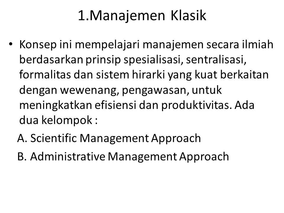 1.Manajemen Klasik