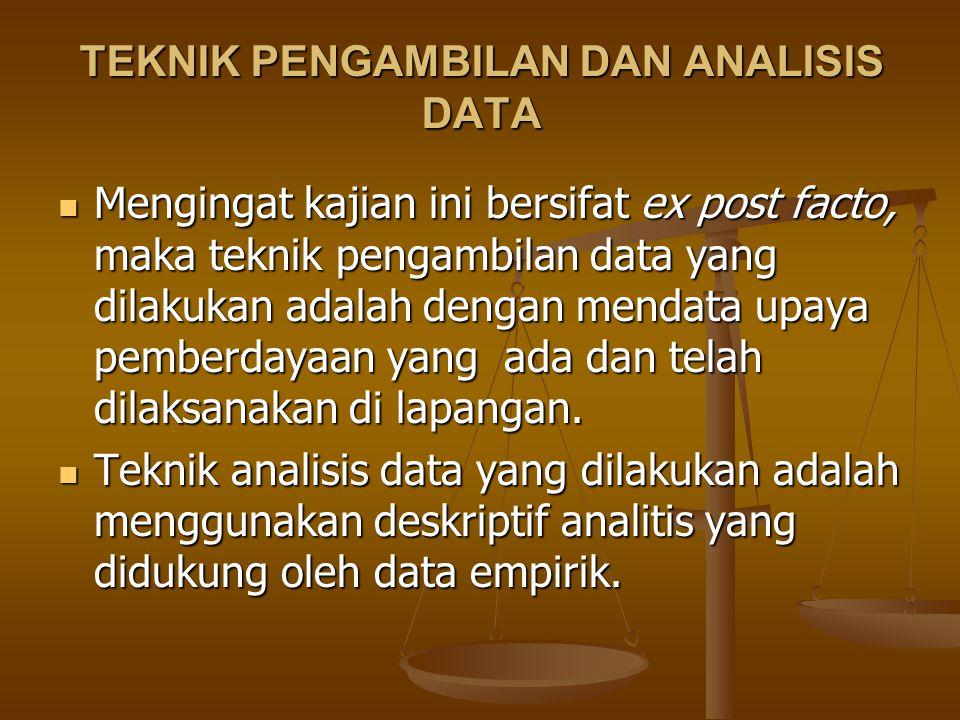 TEKNIK PENGAMBILAN DAN ANALISIS DATA