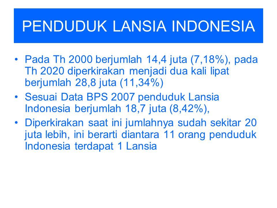 PENDUDUK LANSIA INDONESIA