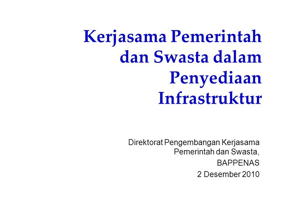 Kerjasama Pemerintah dan Swasta dalam Penyediaan Infrastruktur