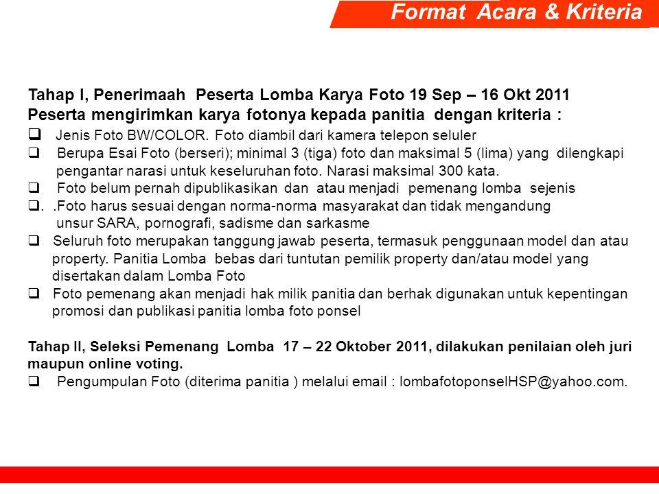 Format Acara & Kriteria