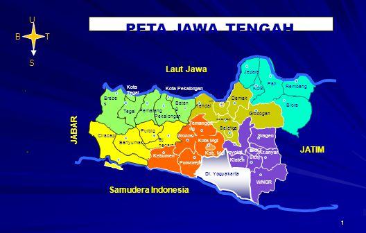 PETA JAWA TENGAH U B T S JATIM Laut Jawa JABAR . Samudera Indonesia