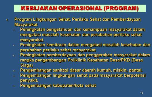 KEBIJAKAN OPERASIONAL (PROGRAM)