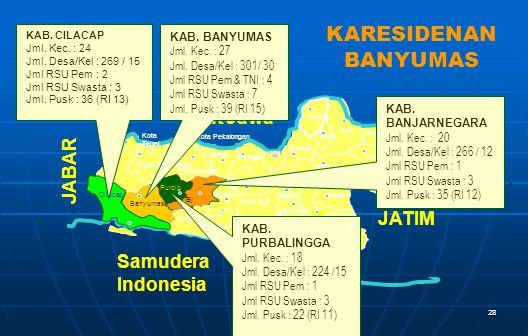 KARESIDENAN BANYUMAS Laut Jawa JABAR JATIM Samudera Indonesia