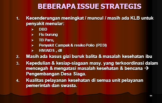 BEBERAPA ISSUE STRATEGIS