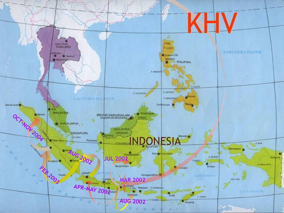 KHV INDONESIA OCT-NOV 2004 AUG 2002 JUL 2002 FEB 2003 MAR 2002