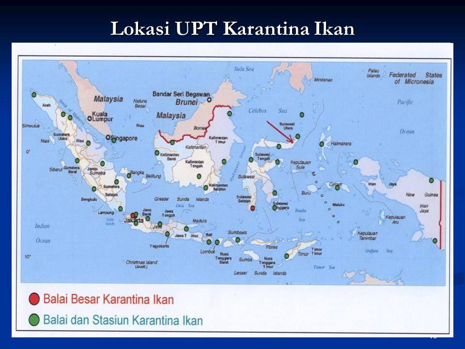 Lokasi UPT Karantina Ikan