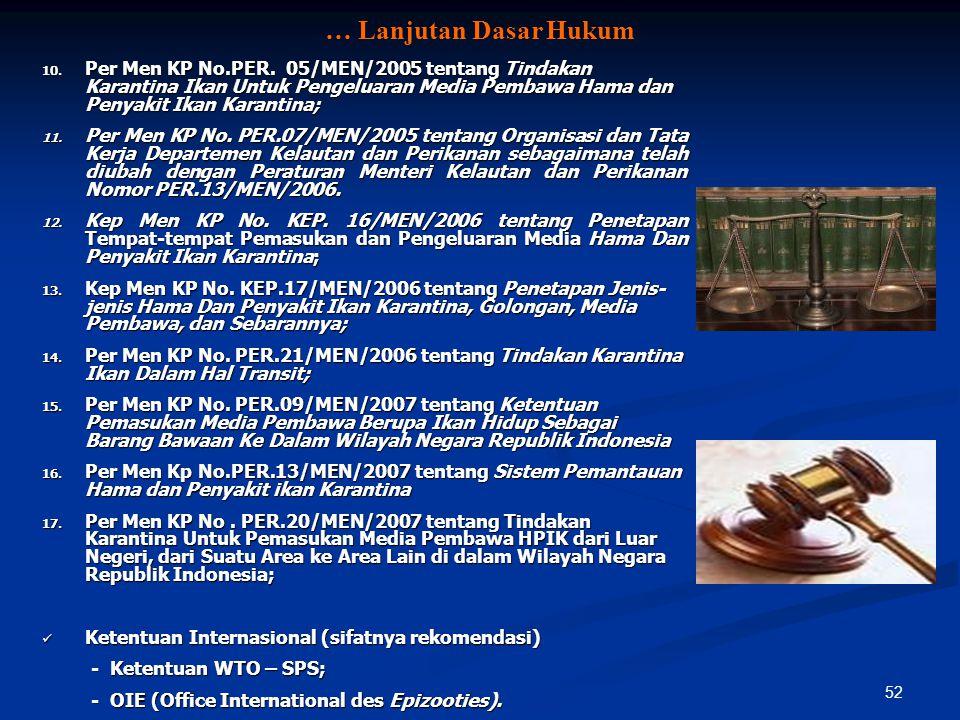 … Lanjutan Dasar Hukum