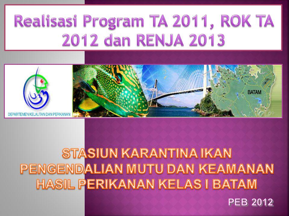 Realisasi Program TA 2011, ROK TA 2012 dan RENJA 2013