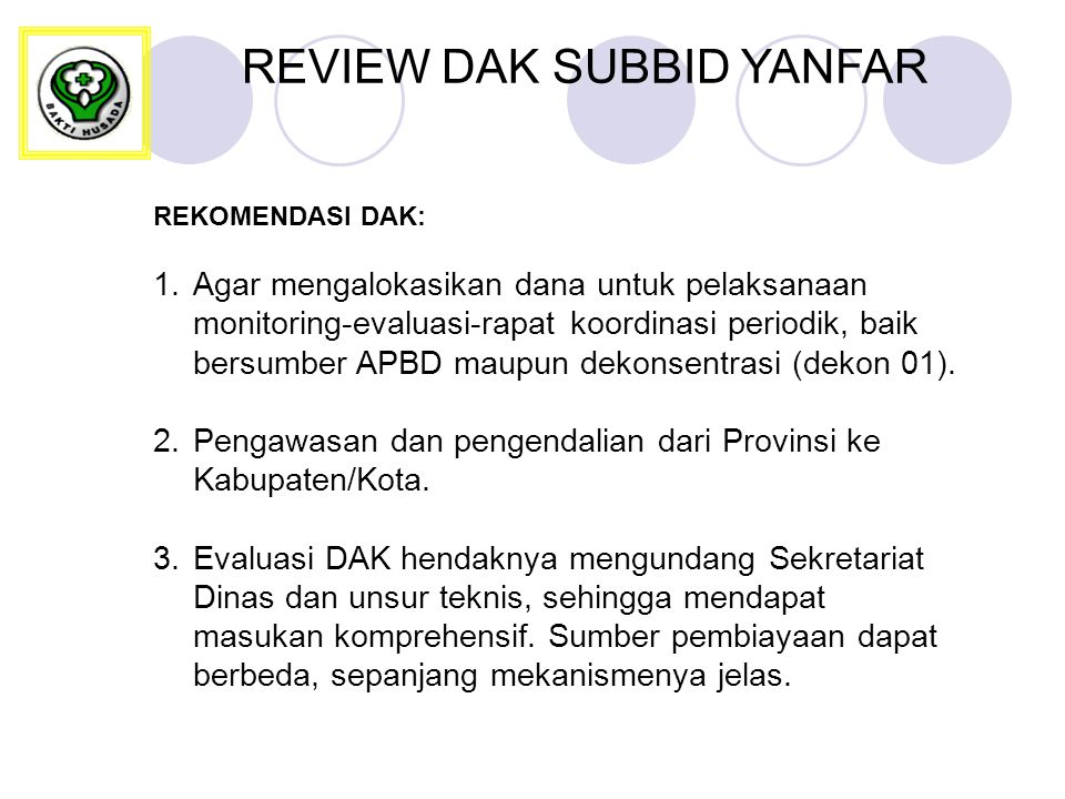 REVIEW DAK SUBBID YANFAR
