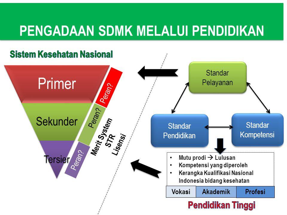 PENGADAAN SDMK MELALUI PENDIDIKAN Sistem Kesehatan Nasional