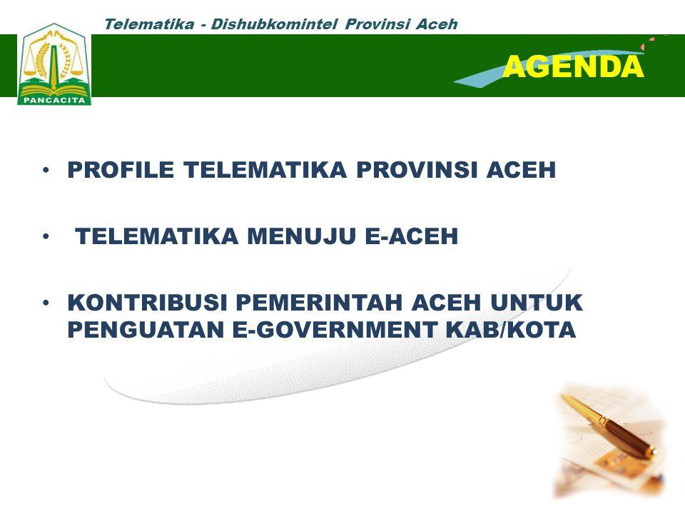 AGENDA PROFILE TELEMATIKA PROVINSI ACEH TELEMATIKA MENUJU E-ACEH