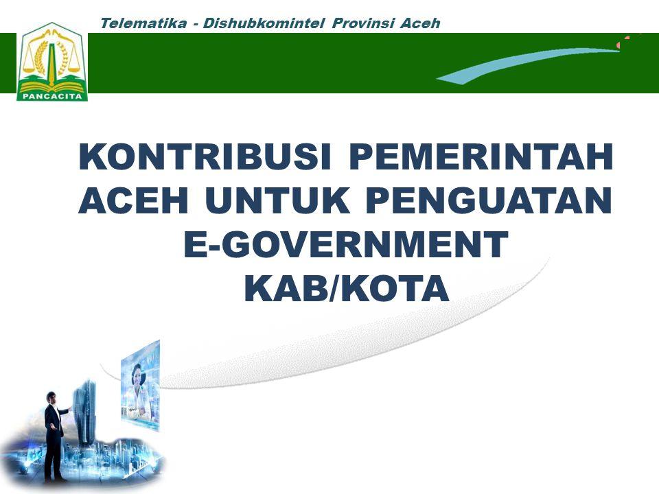 KONTRIBUSI PEMERINTAH ACEH UNTUK PENGUATAN E-GOVERNMENT KAB/KOTA