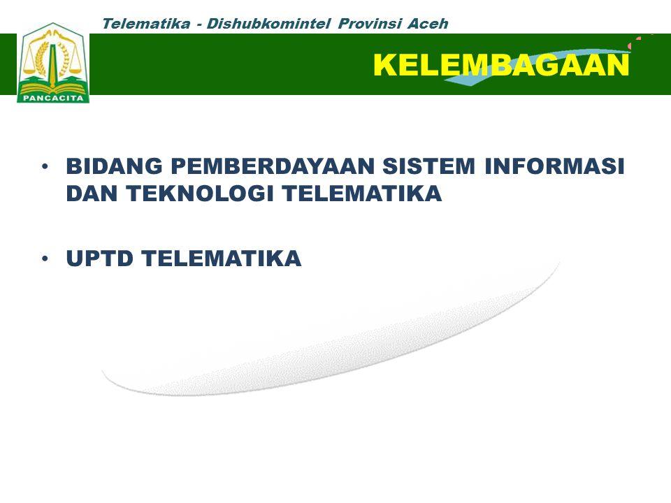 KELEMBAGAAN BIDANG PEMBERDAYAAN SISTEM INFORMASI DAN TEKNOLOGI TELEMATIKA UPTD TELEMATIKA