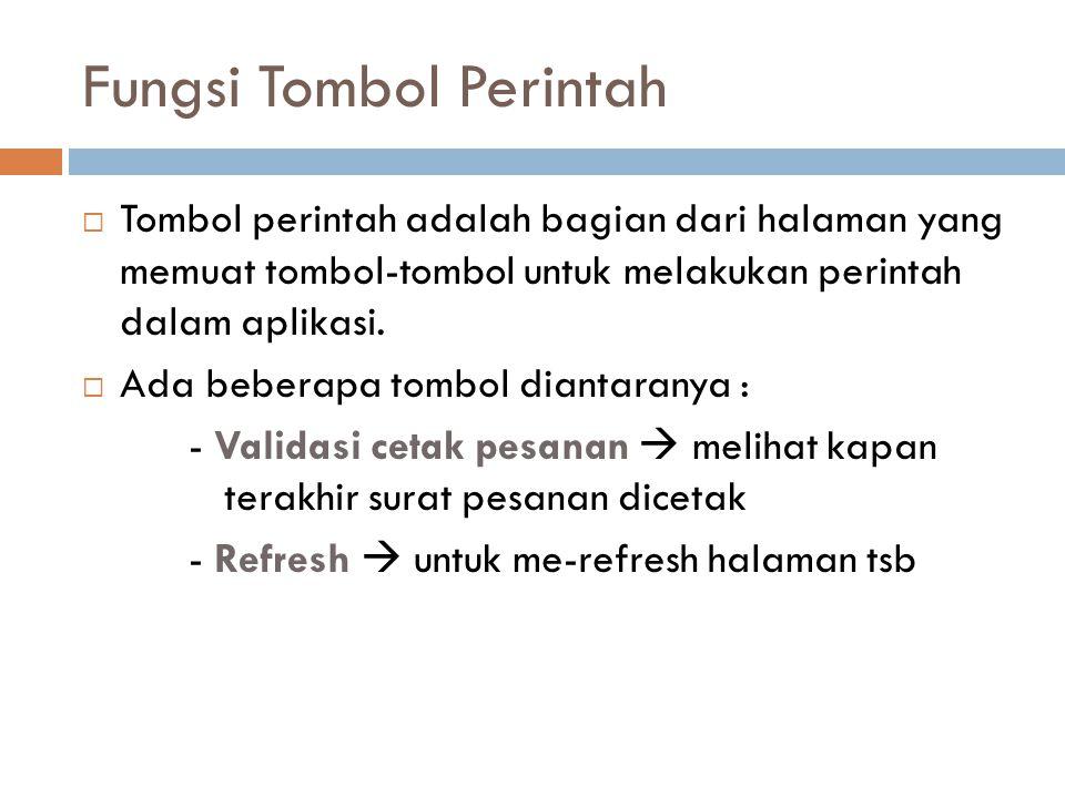 Fungsi Tombol Perintah