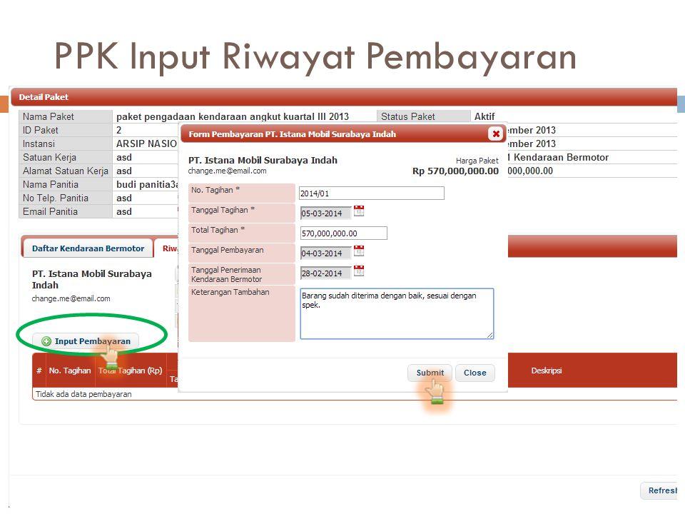 PPK Input Riwayat Pembayaran