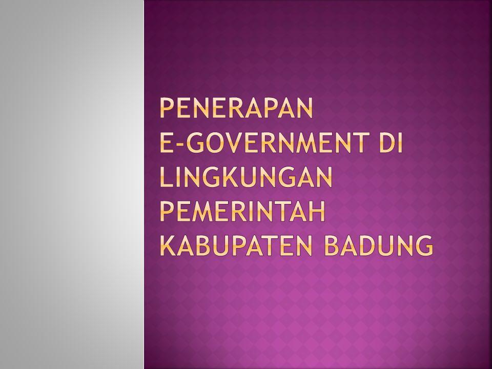 Penerapan e-government di lingkungan pemerintah kabupaten badung