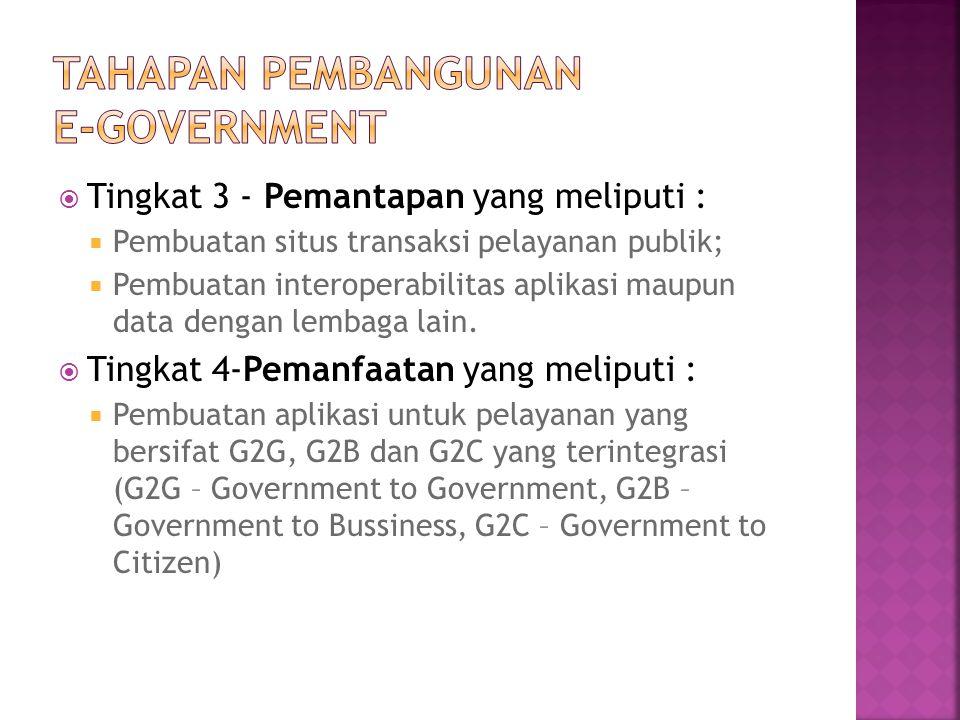 Tahapan pembangunan e-government