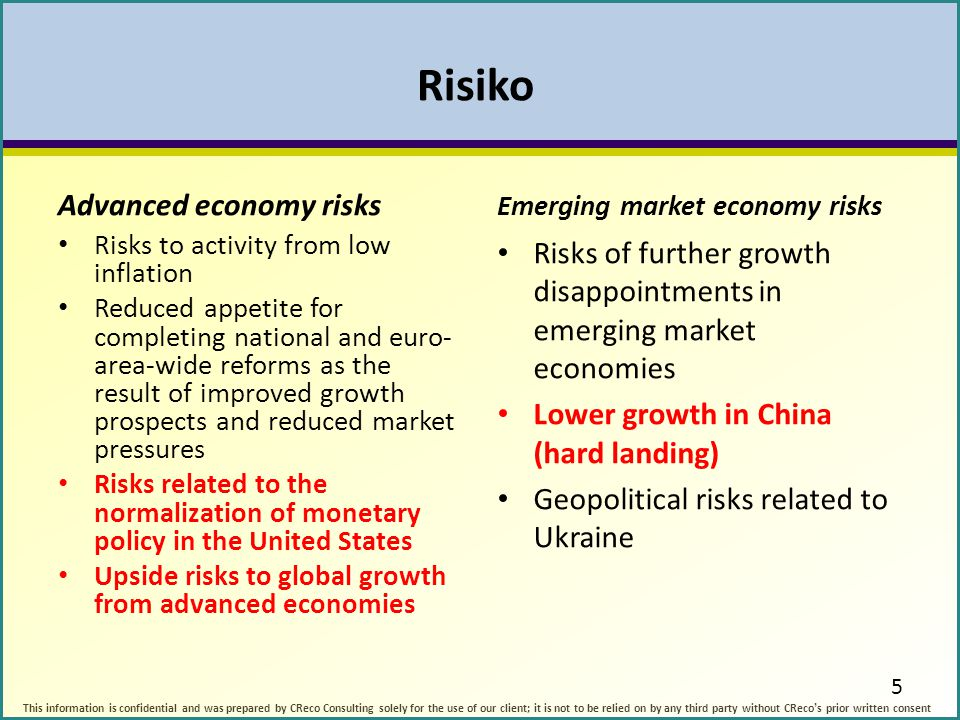 Risiko Advanced economy risks