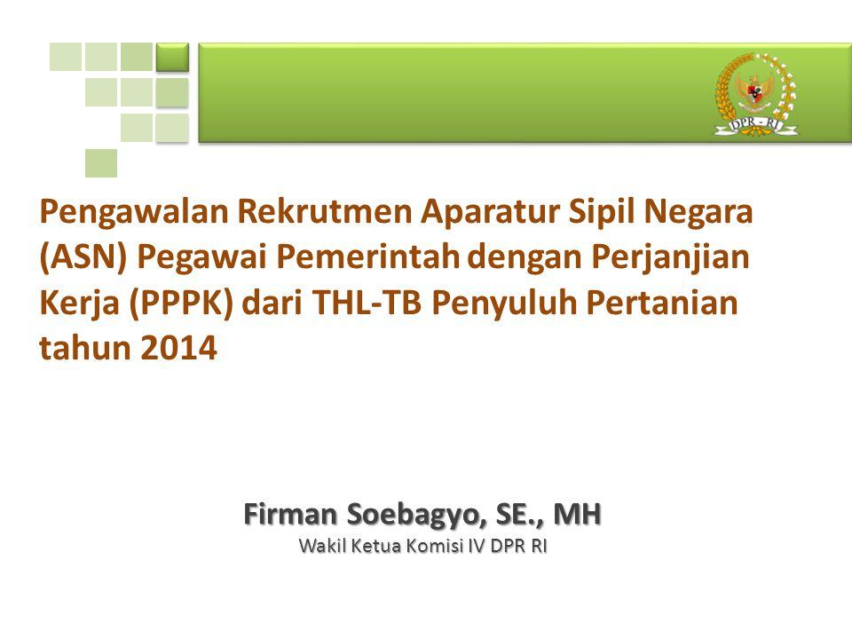 Firman Soebagyo, SE., MH Wakil Ketua Komisi IV DPR RI