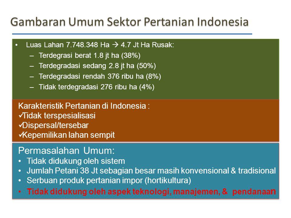 Gambaran Umum Sektor Pertanian Indonesia